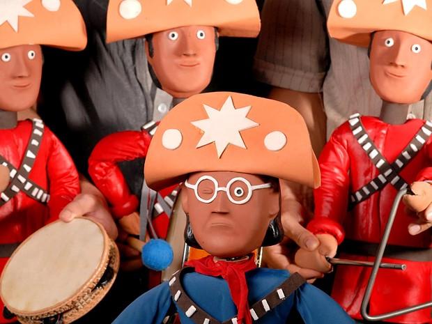 Bonecos da peça A chegada de Lampião no inferno, em cartaz de quinta a domingo (10 a 13) na Caixa Cultural, em Brasília (Foto: Simone Rodrigues/Divulgação)