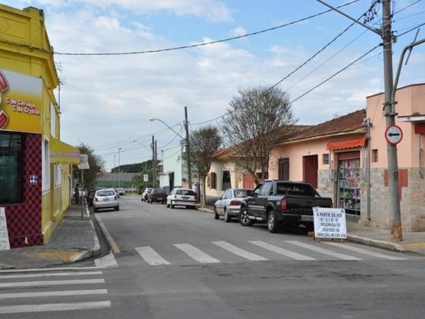 Rua foi alterada e passou a ter sentido para o Centro de Boituva (Foto: Divulgação/Prefeitura de Boituva)