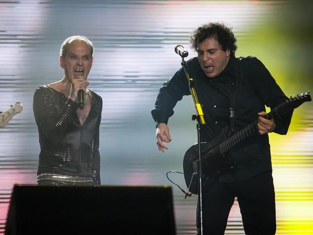 Ney Matogrosso e Frejat abrem o Palco Mundo com show em homenagem aos 30 anos do Rock in Rio (Foto: Fabio Tito/G1)