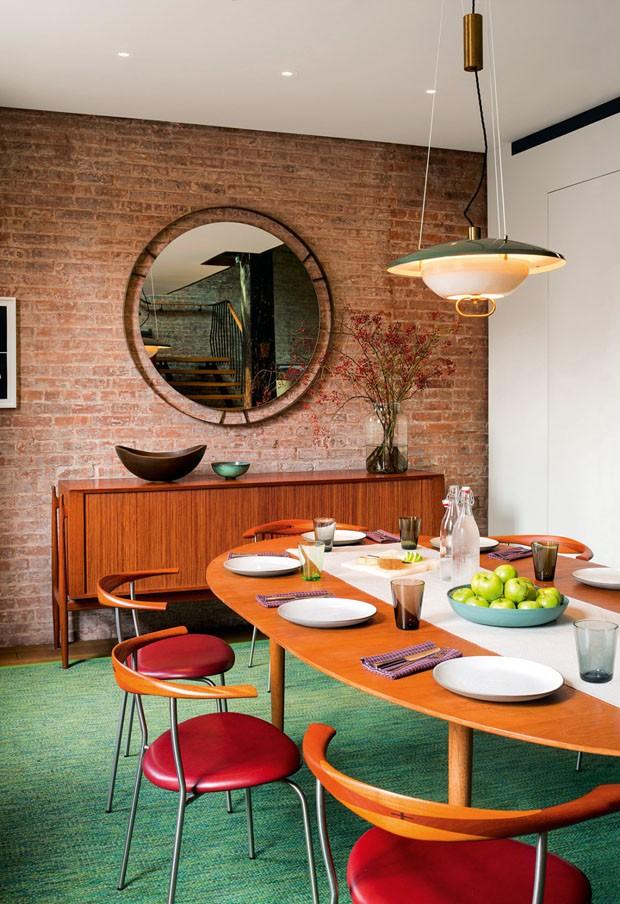 Décor do dia: sala de jantar vintage com toque rústico (Foto: Reprodução)