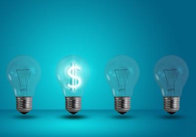 ideia dinheiro valor patente lampada luz (Foto: shutterstock)