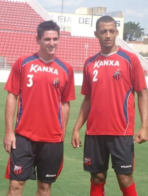 Marcinho Guerreiro e Vitor Hugo, reforços do Ituano (Foto: Rodrigo Alcântara/TV Tem)