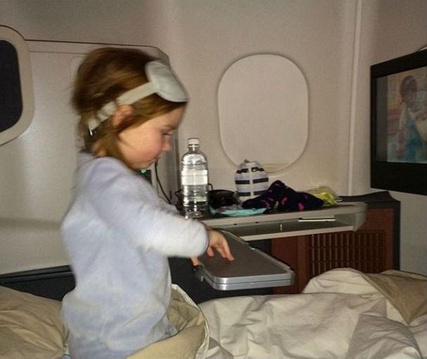 A garota em seu jatinho, partindo pra Nova York (Foto: Reprodução/Instagram)