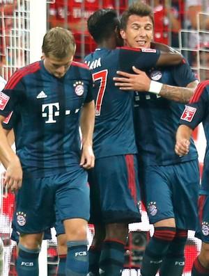 Comemoração do Bayern de Munique contra o São Paulo (Foto: Agência AP)