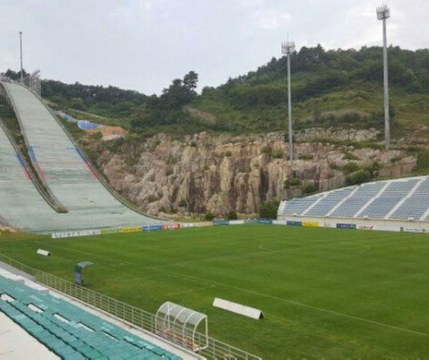 Estádio Alpensia Ski, na Coreia do Sul (Foto: reprodução )