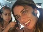 Giovanna Antonelli vira 'cobaia' da filha em dia de maquiagem: 'Amando'