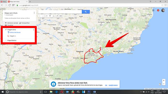 Como abrir mapas  KML,  KMZ,  CSV,  TSV,  GPX ou  XLSX no