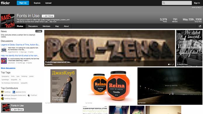 Flickr, rede possui grupo para identificar fontes em imagens (Foto: Reprodução/André Sugai)
