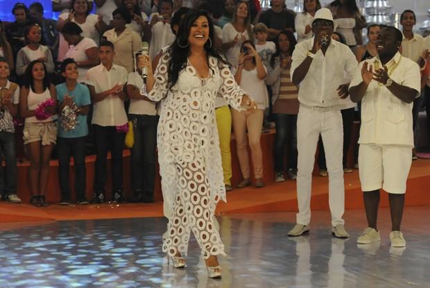 Regina Casé no Esquenta! de Ano Novo (Foto: Divulgação / TV Globo)
