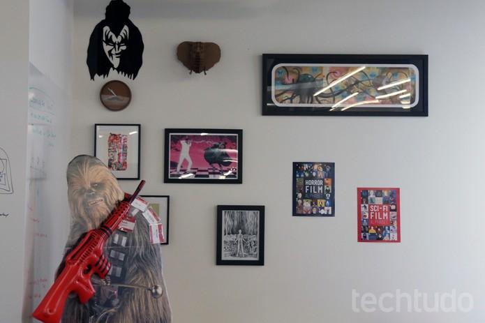 Chewie também está lá. Aliás, as referências estão em todo lugar (Foto: Isadora Díaz/TechTudo)