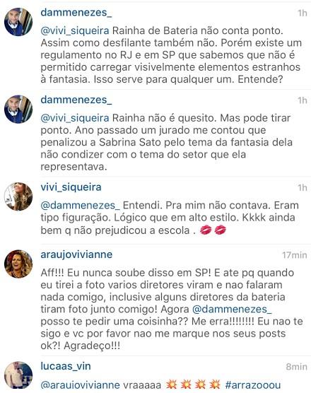 Viviane Araújo sobre comentários em rede social (Foto: Instagram / Reprodução)