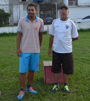 Técnico Nei Gaúcho e presidente do Rio Branco, Illimani Suares (Foto: Duaine Rodrigues)