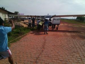 Monomotor pertence a empresa Paramazônia Táxi Aéreo (Foto: Arquivo Pessoal)