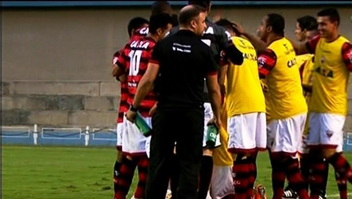 Atlético-GO x Náutico no Serra Dourada (Foto: Reprodução/PremiereFC)