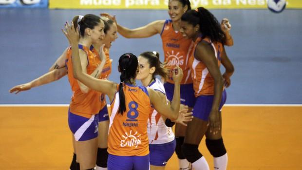Time feminino de vôlei do Osasco (Foto: Fabio Rubinato/AGF/Divulgação)