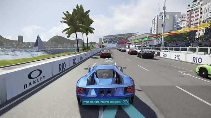 Forza 6 tem uma pista organizada em ruas do Rio de Janeiro (Foto: Reprodução/Murilo Molina)