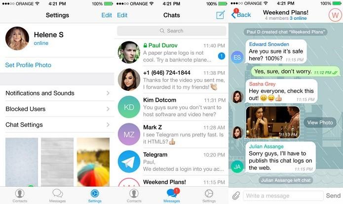 Telegram agora já permite baixar arquivos de mídia em segundo plano (Foto: Divulgação/AppStore)
