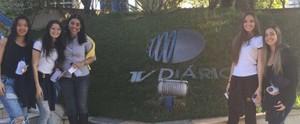 Estudantes de Santa Isabel visitam a sede da TV Diário em Mogi das Cruzes; confira o passeio  (Reprodução / TV Diário )