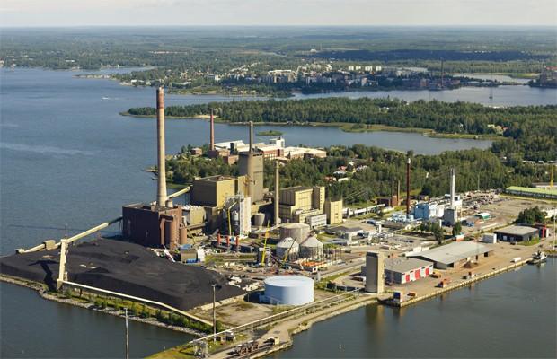 Usina de biogás construída na Finlândia (Foto: Divulgação/Metso)