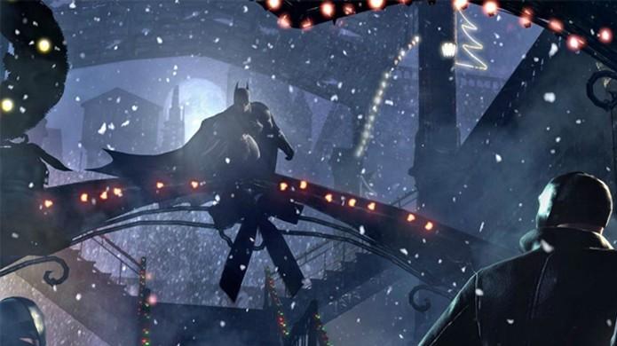 Gotham City é decorada com luzes, fitas, guirlandas e morcegos gigantes (Foto: Trusted Reviews)