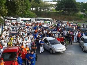 Manifestação em Manaus (Foto: Divulgação/Sintracomec)
