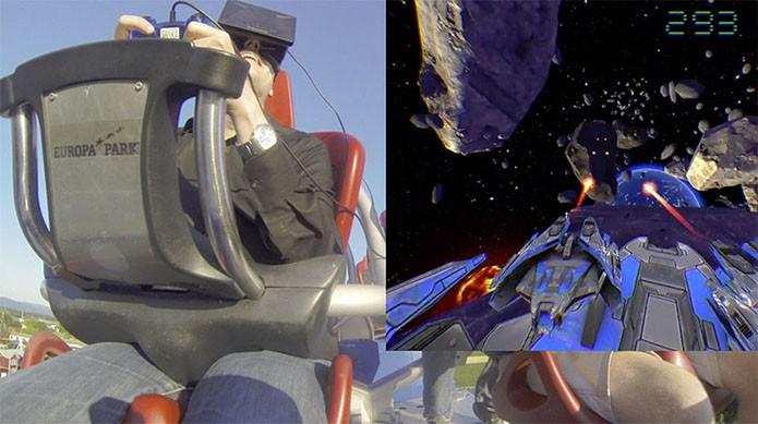 Oculus Rift usou movimentos da montanha russa para dar sensação de movimento no espaço, por exemplo (Foto: Reprodução/Engadget)
