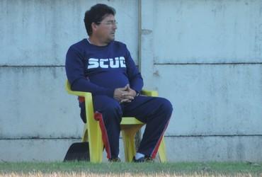 Lelo técnico Grêmio Prudente (Foto: Ronaldo Nascimento / GloboEsporte.com)