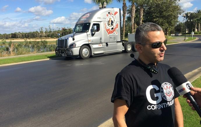 Ricardo Machado, torcedor do Corinthians nos EUA (Foto: Carlos Augusto Ferrari)
