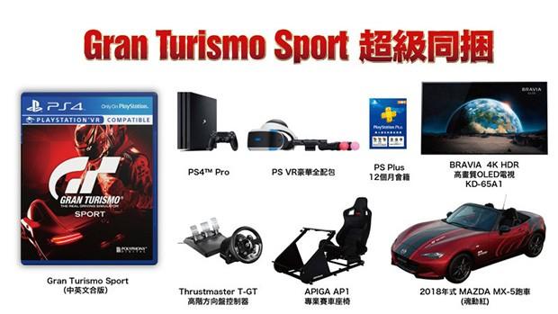 Pacote Gran Turismo Sport Super Budle inclui TV 4K, óculos VR e um Mazda Miata (Foto: Reprodução)