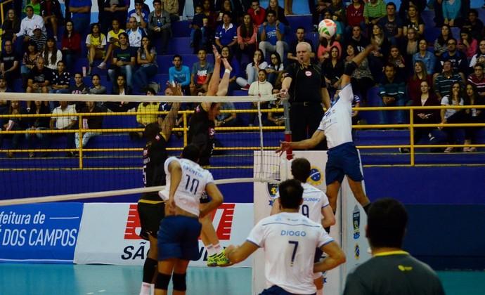 São José Vôlei x Sesi Campeonato Paulista (Foto: Danilo Sardinha/GloboEsporte.com)
