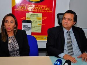 Fraude foi informada pelo Ministério Público e Receita Estadual em coletiva realizada em João Pessoa (Foto: João Francisco / Secom-PB)