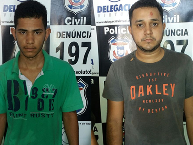 Wender Roberto Lima (à esquerda) e Everson Paiva da Silva (à direita) foram presos (Foto: Divultação/Polícia Civil de MT)