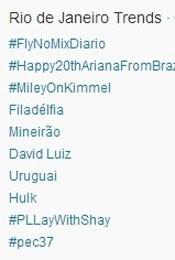 Trending Topics no Rio às 17h23 (Foto: Reprodução/Twitter.com)