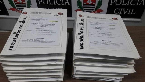 Polícia Civil concluiu nesta quinta-feira (9) o inquérito sobre a Operação Sanctorum (Foto: Murilo Zara/TV Fronteira)