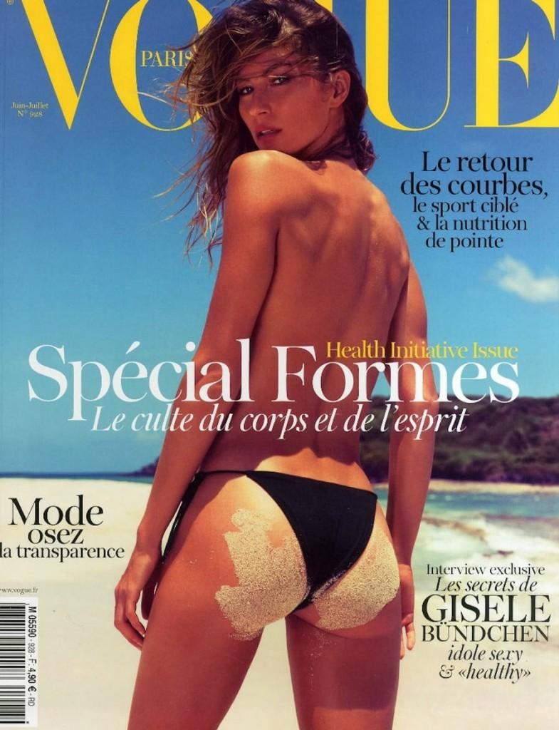 Gisele Bündchen na edição de junho/julho de 2012 da 'Vogue Paris'. (Foto: Reprodução)