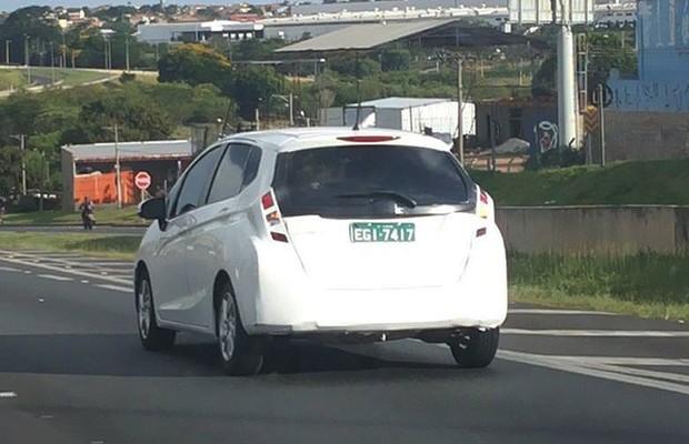 Novo Honda Fit é flagrado rodando próximo à cidade de Sumaré (SP) (Foto: Marcelo Trindade)