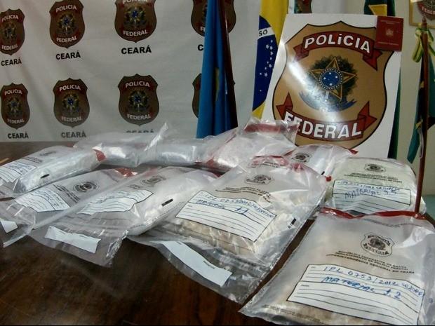 Polícia Federal diz que esta foi a maior apreensão da droga neste ano (Foto: TV Verdes Mares/Reprodução)
