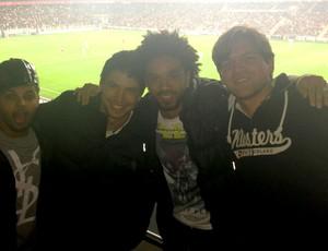 Sullyvan, empresario Miguel, Cristian e Léo Meneghin (Foto: Arquivo Pessoal)