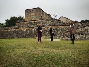 Ao lado dos colegas, Jaque aproveitou para turistar um pouco (Foto: Arquivo Pessoal)
