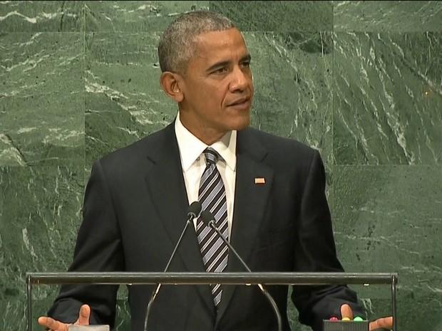 Obama na ONU - Gnews (Foto: reprodução GloboNews)