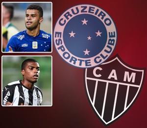 Carrossel - Cruzeiro x Atlético-MGJemerson x Alisson 524x567 (Foto: Editoria de Arte)