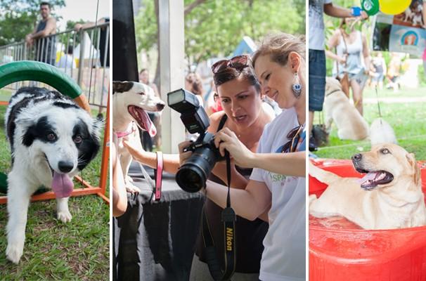 Dog Show, fotos e bebedouro gigante que virou piscina foram atrações do patrocinador Espaço Patas (Foto: Rodrigo Oliveto/Photo Studio Up)