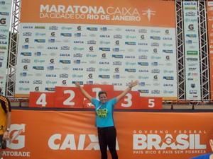 Idalia participou de maratona no Rio de Janeiro e realizou o sonho de conhecer a cidade (Foto: Arquivo pessoal)