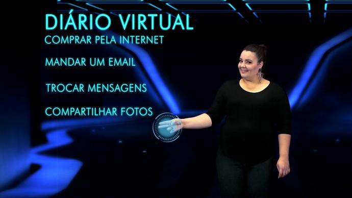 Renata te mostra a evolução da internet  (Foto: Reprodução/TV TEM)