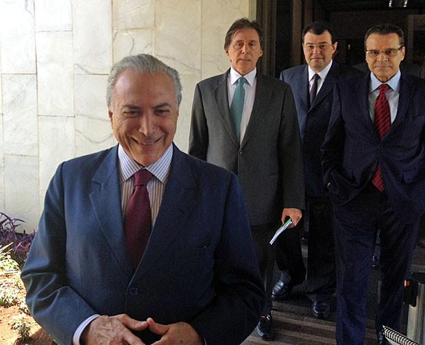 Temer reuniu ministros e congressistas no Palácio do Planalto para discutir a MP que abona a meta fiscal (Foto: Filipe Matoso / G1)