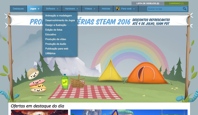 Conferindo as novidades da Summer Sale do Steam (Foto: Reprodução/Felipe Vinha)