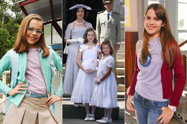 Bianca em Clara e o Chuveiro do Tempo (2005), em JK (2006) e na novela Cama de Gato (2009) (Foto: Globo)