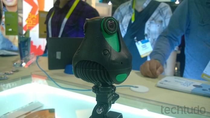Giroptic 360cam traz duas lentes de (Foto: Elson de Souza/TechTudo)