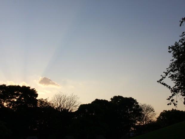 Céu de Campo Grande na tarde desta terça-feira (6) (Foto: Adriel Mattos/G1 MS)