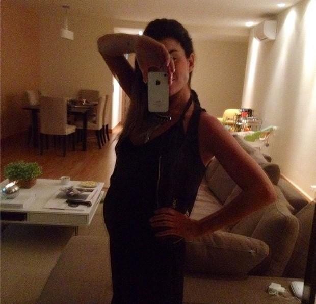 Joana Balaguer est grvida do primeiro filho, Martin (Foto: Instagram / Reproduo)